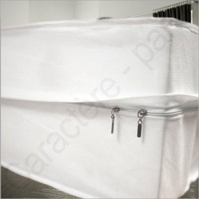 Renov matelas r novateur de matelas avec fermeture clair housse de matelas pour punaise et for Protege matelas jetable
