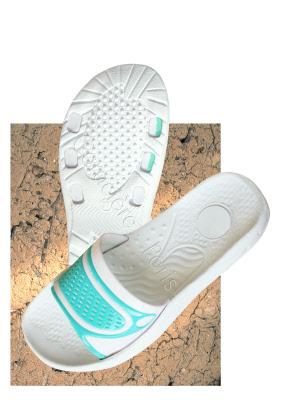 claquette de piscine sandale savate pvc femme bleu lagon lot de 6 paires. Black Bedroom Furniture Sets. Home Design Ideas